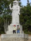 socha Radegast na Pustevnách